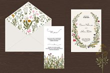 Wedding set. Wild Flowers. Boho