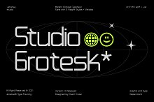 Studio Grotesk - Modern Typeface by  in Fonts