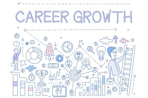Career Growth Hand drawn Vector