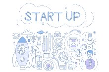 Start Up Hand drawn Vector
