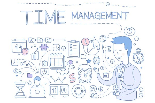 Time Management Hand drawn Vector