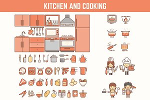 Kitchen Cooking Characters & Icons