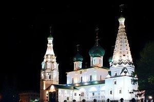 Set 5 fotos of night churchs