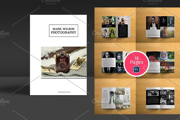 Photography Brochure Template Brochure Templates Creative Market - Photography brochure templates
