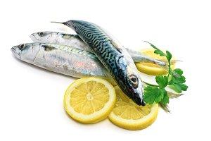 three mackerel with lemon