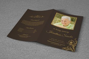Funeral Program Template-T416