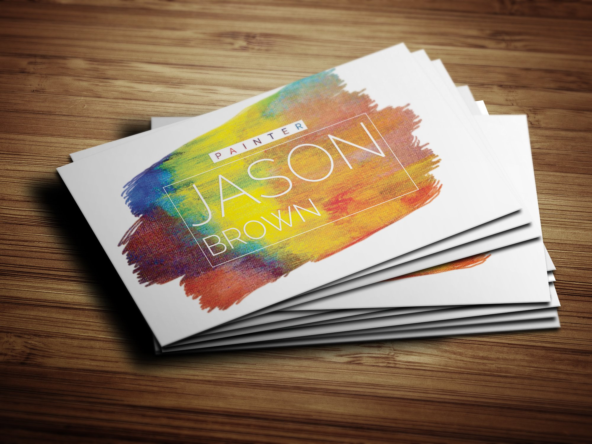Creative Painter Business Card Business Card Templates - Painter business card template