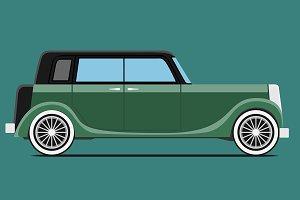 Green Vintage car.