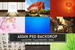Asian PSD Backdrop