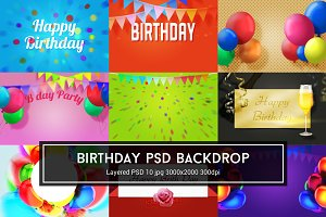 Birthday PSD Backdrop