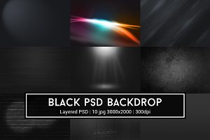 Black PSD Backdrop