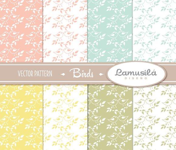 Birds Vector Pattern