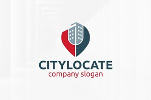 City Locate Logo Template