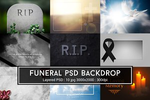 Funeral PSD Backdrop