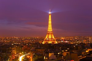 Eiffel Tower at twilight, Paris