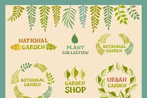 botanical round leafer, garden, plan