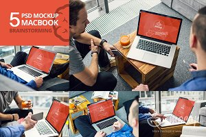 5 PSD Mockup MacBook Brainstorming
