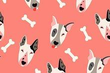 Cute dogs (bulyteryers) pattern