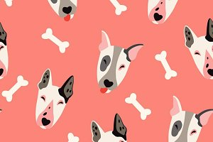 Cute dogs (bulyteryers) pattern