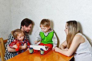Family and Tablet PC