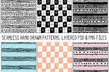 Marker Scribbles Seamless Patterns