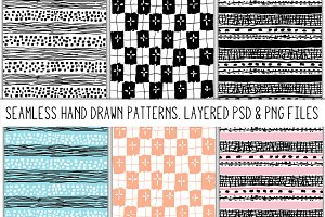Marker Scribbles Seamless Patterns