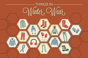 Things in Winter Wear - 15 Vectors