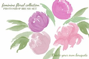 Feminine Floral Brush Collection