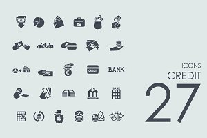 27 Credit icons