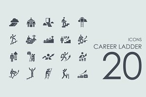 20 Career Ladder icons