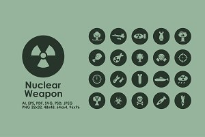 Nuclear Weapon simple icons