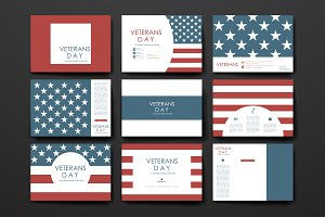Veterans day. Banner Templates