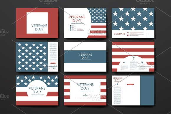 Veterans day. Banner Templates - Cards