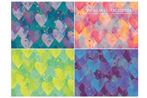 20 Hearts Backgrounds
