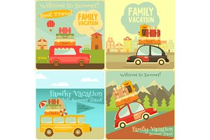 Travel Cards Set