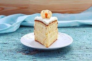 Piece of homemade cake