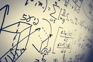 Complex math formulas.