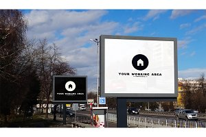 Double City Billboard Mockup