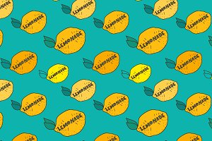 Vector lemonade patterns.