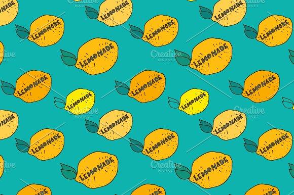 Vector lemonade patterns.
