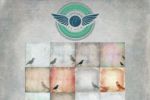 Vintage Flock - Bird Backgrounds