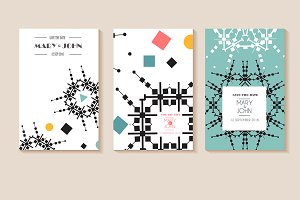 Set of 6 vector card templates
