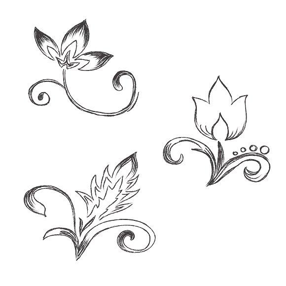 decor, sketch, flowers, doodle