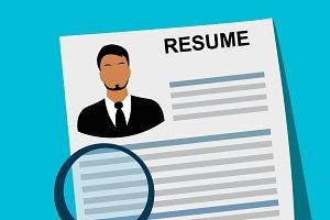 resume, cv, job, vector