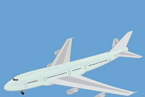 Airplane, vector, illustration