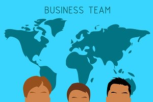 business team, vector