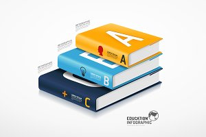 Infographic Template Book Concept.