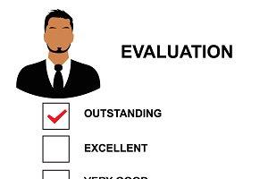 evaluation form, vector