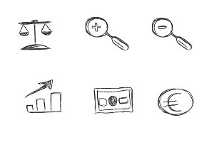 business, sketch, icon