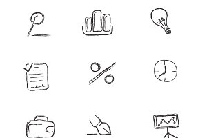 business, icon, sketch